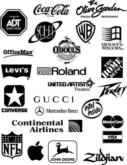 logo identifies a business or organization so it would be ...