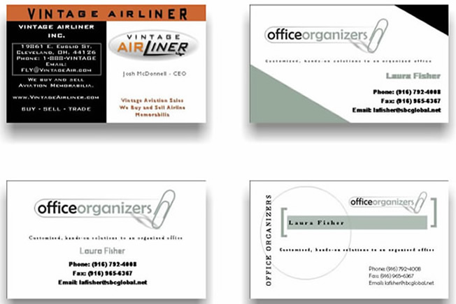 Images of Custom Design Business Cards, Logos, Examples, Templates ...