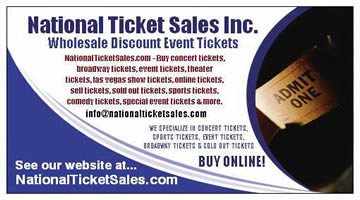 national ticket sales business card